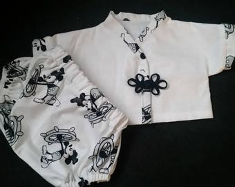 """Mickey mouse bloomer set """"gender neutral """""""