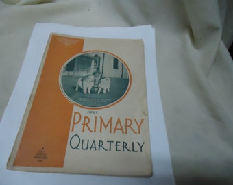 Vintage 1936 Pupil's Primary Quarterly Booklet, Vol 28, number 3, July, August, and September, collectable, religious