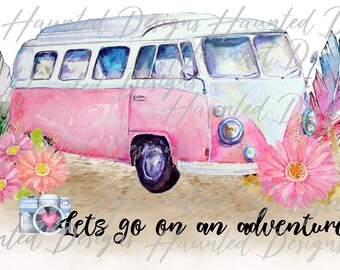 Sublimation Transfer Print Adventure VW Travel Boho Gypsy