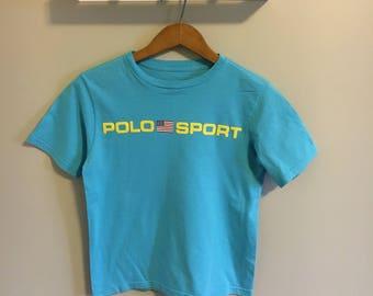 Vintage Blue Ralph Lauren Sport T-Shirt