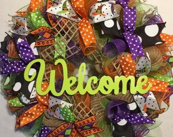 Halloween wreath, burlap Halloween wreath, burlap Halloween wreaths, Halloween burlap wreath, burlap witch wreath, witch wreath, wreath