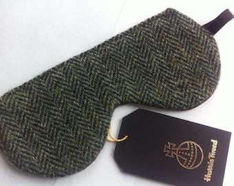 Harris tweed eye mask sleep mask travel mask made in Scotland man gift woman gift relax