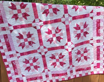 Pretty in Pink Twin Star Quilt