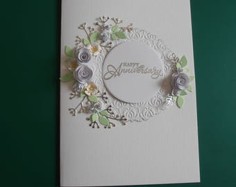 Handmade Personalised Card Anniversary Wedding Engagement