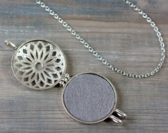 Essential Oil Diffuser Necklace, Aromatherapy Necklace, Essential Oil Accessories, Mandala Pendant, Mandala Necklace, Essential Oil Jewelry