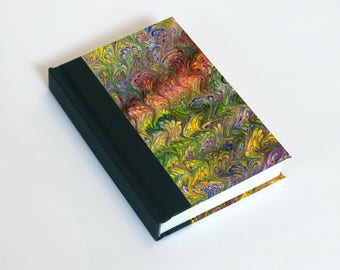 """Sketchbook 4x6"""" with motifs of marbled papers - 33"""