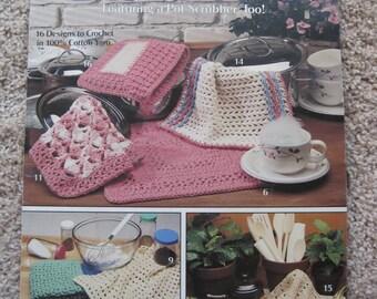 Crochet Pattern Book - Dishcloths - Leisure Arts Leaflet #2077 - Vintage 1991
