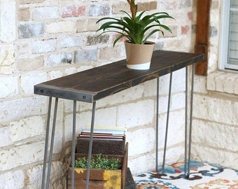 SALE Stained Industrial 60 inch Console Table