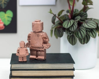 Concrete Decoration – Copper Gifts For Men – Concrete Ornament – lego gifts – Father'd day Gift  – Housewarming Gift - Gift for him