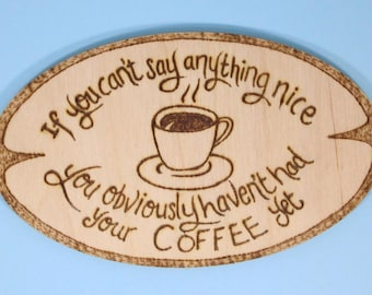 Coffee lovers fridge magnet - coffee lovers gift, funny gift, coffee poem, funny coffee saying, original poetry