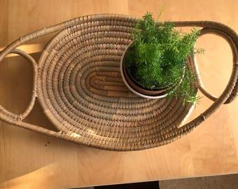 Vintage coil platter basket