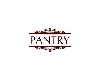 Pantry Kitchen - Wall Decal - Vinyl Wall Decals, Wall Decor, Kitchen Wall Decals, Kitchen Wall Quotes, Pantry Decor