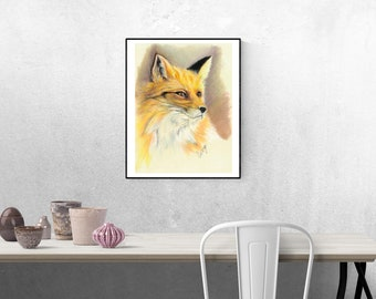 Fox -  Giclee print from original painting