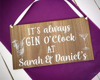 Gin Sign, Gin Gift, Gin Plaque, Gin and Tonic Gift, Gin and Tonic Present, Gin Present, Friend Gift, Gin lover
