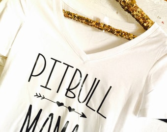 Pitbull mama, pitbull t shirt, pitbull mom, pitbull, pitbull shirt, pitbull love, womens pitbull shirt