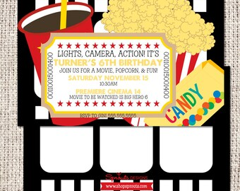 Movie Theater Birthday Invitation