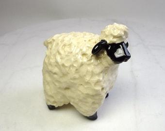 Black Face Sheep Sculpture  - Hand Built Animal -  Nativity Animal Sculpture - Lamb Figurine - Farm Animal - Pinch Pot Sculpture