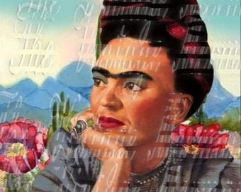 Fabric Frida Kahlo Painting Mexican Art Crafts Cotton Block Quilt Panel FK198