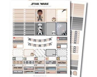 Erin Condren Star Wars Printable Planner Sticker Set, Erin Condren Life Planner, Instant Download
