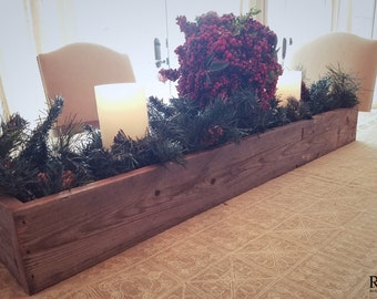 Rustic Table Centerpiece - 100% Reclaimed Wood