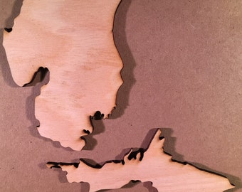 MI Michigan Wood Cutouts - Shapes for Projects or Other Use