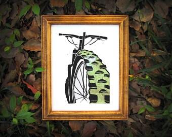 Mountain Bike Custom Topographic Art Print