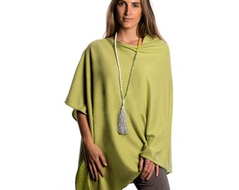 Lime Green Poncho/Lime Green Cashmere Poncho/Green Poncho