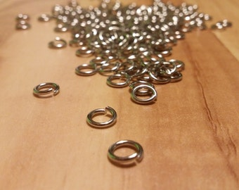 Steel rings 6mm stainless hypoallergenic outside