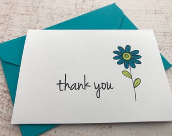 Mini Thank You Notes | Thank You Cards | 2.5x 3.5 inch | Gift Card Holders | Gift Enclosures | Set of 5