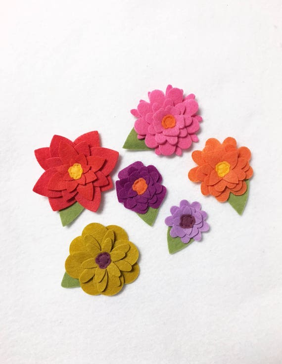 Spring Felt Flowers, Loose Flowers for Crafting and Decor, Bright Spring and Summer Blooms, Wedding and Party Decoration