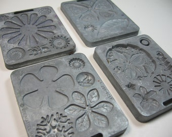 Four Mattel Fun Flower Thing Maker Molds 1966