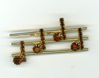 Musical Scale Brooch