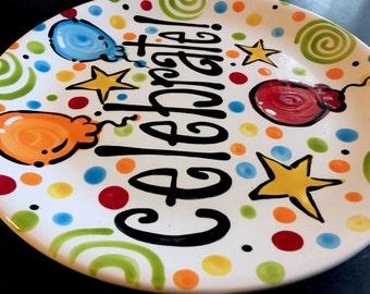 CELEBRATE Plate - Celebrate Special Days 12 Inch Ceramic Plate