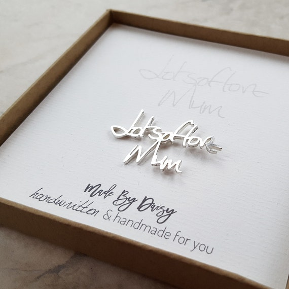 Groom Gift From Bride  Wedding Gift Husband  Groom Gift  Memorial Jewelry Handwriting  Custom Handwriting  Lapel Pin  Personalized Brooch by Etsy