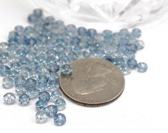 Denim Blue 4mm Rondelles Faceted Swarovski Crystals 4mm 24pcs