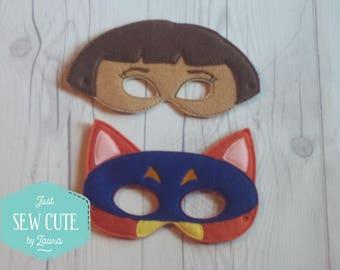 Swiper or Dora mask