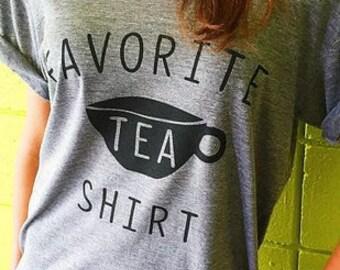 FAVORITE TEA SHIRT Scoop Neck Ladies Tee
