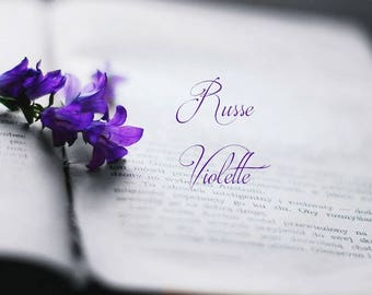 """Natural Violet Perfume """"Russe Violette"""" Natural fragrance Exotic perfume Violets Mimosa Berry 3 ml cruelty free vegan"""