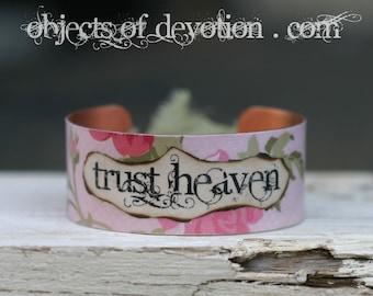 TRUST HEAVEN * Religious Jewelry * Catholic Jewelry * Religious Bracelet * Catholic Gift * Religious Gift * Catholic Bracelet * Faith Cuff *