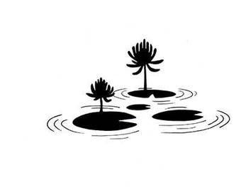 Lavinia Stamps Clear Rubber Stamp - Lily Pad