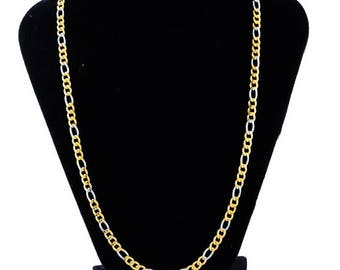 1 two-tone steel necklace curbed length 51.5 cm, original