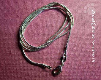 1mm Silver 16 inch Snake Chain Necklace