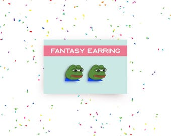 SALE!  pepe meme earring