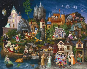 HAED Faery Tales counted cross stitch patterns Heaven and Earth Designs based on artwork from James C. Christensen