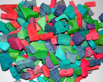 20/50 Pieces Random Shapes Pine Chews for Toy Making - Colored