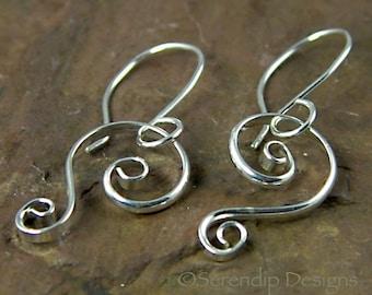 Small Silver Spiral Earrings, Double Spirals, Nicole Earrings   SE54