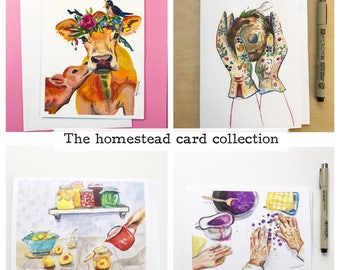 The Homestead- card collection, 5x7 card, Ready to Ship greeting card