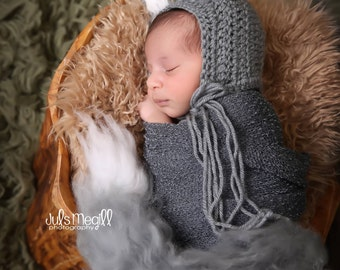 Charcoal RTS Stretchy Soft Newborn Knit Wraps 80 colors to choose from, photography prop newborn prop wrap