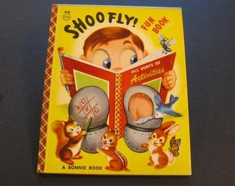 SHOOFLY  vintage Bonnie Book #4436 Shoo Fly activities unused 1956 Nice!!