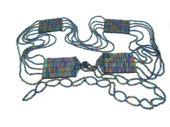 Vintage Women's Iridescent Beaded Belt